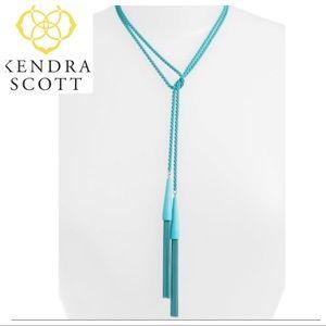 NWT Kendra Scott Teal Phara Tassel Lariat Necklace